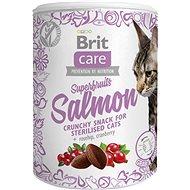 Brit Care Cat Snack Superfruits Salmon100 g - Maškrty pre mačky