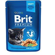 Brit Premium Cat Pouches Chicken Chunks for Kitten 100 g - Kapsička pre mačky