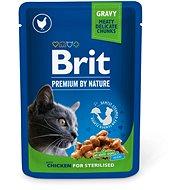 Brit Premium Cat Pouches Chicken Slices for Sterilised 100 g - Kapsička pre mačky