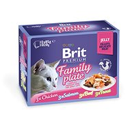 Brit Premium Cat Delicate Fillets in Jelly Family Plate 1020 g (12× 85 g) - Kapsička pre mačky