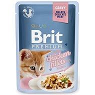 Brit Premium Cat Delicate Fillets in Gravy with Chicken for Kitten 85 g - Kapsička pre mačky