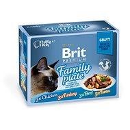 Brit Premium Cat Delicate Fillets in Gravy Family Plate 1020 g (12 × 85 g) - Kapsička pre mačky
