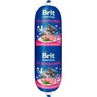 Saláma pre mačky Brit Premium by Nature Sausage CAT Chicken & Rabbit 180 g