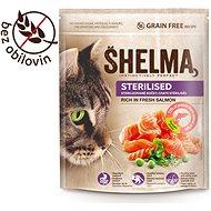 Shelma Sterile bezobilné granule s čerstvým lososom pre dospelé mačky 750 g - Granuly pre mačky