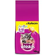 Whiskas granule Junior s kuracím 14kg - Granuly pre mačiatka