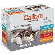 Calibra Cat  kapsička Premium Adult multipack 12× 100g - Kapsička pre mačky