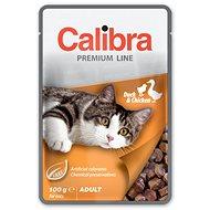 Calibra Cat  kapsička Premium Adult Duck & Chicken 100g - Kapsička pre mačky