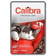 Calibra Cat  kapsička Premium Adult Chicken & Beef 100g - Kapsička pre mačky