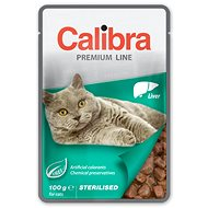Calibra Cat  kapsička Premium Sterilised Liver 100g - Kapsička pre mačky