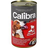 Calibra Dog  konzerva hovädzie + pečeň + zelenina v želé 1240g - Konzerva pre psov