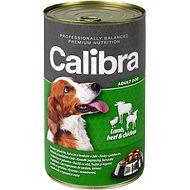 Calibra Dog  konzerva jahňacie + hovädzie + kuracie v želé 1240 g - Konzerva pre psov