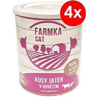 FARMKA CAT 800 g s pečeňou, 4ks - Konzerva pre mačky