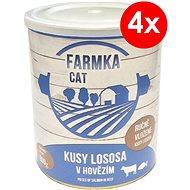 FARMKA CAT 800 g s lososom, 4ks - Konzerva pre mačky