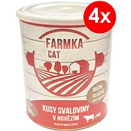 Konzerva pre mačky FARMKA CAT 800 g so svalovinou, 4ks