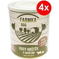FARMKA DOG 800 g s držkami, 4ks - Konzerva pre psov