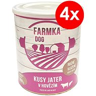 FARMKA DOG 800 g s pečeňou, 4ks - Konzerva pre psov