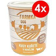 FARMKA DOG 800 g s kučaťom, 4ks - Konzerva pre psov