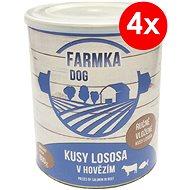 FARMKA DOG 800 g s lososom, 4ks - Konzerva pre psov