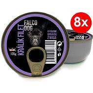 FALCO DOG 120 g králik filet, 8ks - Konzerva pre psov