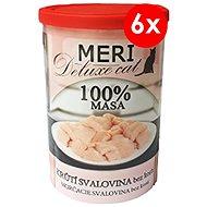 Konzerva pre mačky MERI deluxe morčacie mäso bez kosti 400 g, 6 ks