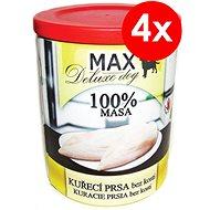 MAX deluxe kuracie prsia bez kosti 800 g, 4ks - Konzerva pre psov