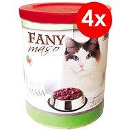 Konzerva pre mačky FANY mäso 800 g, 4 ks