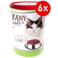 Konzerva pre mačky FANY mäso 400 g, 6 ks