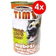 TIM 1 200 g hydinová, 4ks - Konzerva pre psov