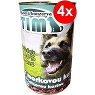 TIM 1200 g so špikovou kosťou, 4ks - Konzerva pre psov