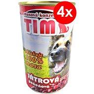 TIM 1200 g pečeňová, 4ks - Konzerva pre psov