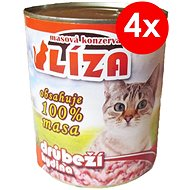 LÍZA 800 g hydinová, 4 ks - Konzerva pre mačky