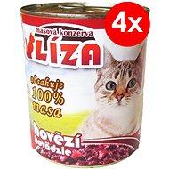 LÍZA 800 g hovädzia, 4 ks - Konzerva pre mačky