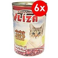 LÍZA 400 g hovädzia, 6ks - Konzerva pre mačky
