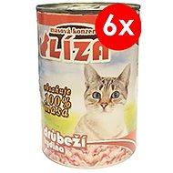 LÍZA 400 g hydinová, 6ks - Konzerva pre mačky