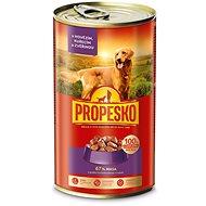 Propesko kúsky pes hovädzie + kuracie + zverina 1 240 g - Konzerva pre psov