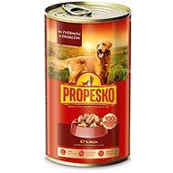 Propesko kúsky pes zverina + hydina 1240 g - Konzerva pre psov