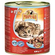 Propesko kúsky mačka losos a pstruh v omáčke 830 g - Konzerva pre mačky