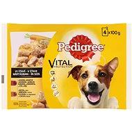 Pedigree kapsičky hovädzie a jahňacie v šťave 4× 100 g - Kapsička pre psov