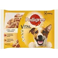 Pedigree kapsičky pre psov s hovädzím a hydinou v želé 4× 100 g - Kapsička pre psov