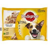 Pedigree kapsičky pre psov s jahňacím a kuracím v želé 4× 100 g - Kapsička pre psov
