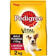Pedigree Mini s hovädzím a hydinovým 2 kg - Granuly pre psov