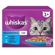 Whiskas kapsičky rybie výber v želé 12× 100 g - Kapsička pre mačky