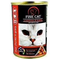Fine Cat Konzerva pre mačky DUO Hovädzie s morčacím 12× 415 g - Konzerva pre mačky