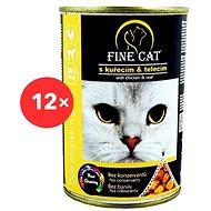Fine Cat Konzerva pre mačky DUO Kuracie s teľacím 12× 415 g - Konzerva pre mačky