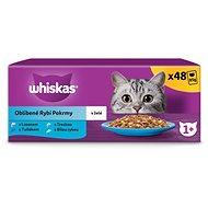 Whiskas kapsičky pre dospelé mačky: rybí výber v želé 48× 100 g - Kapsička pre mačky