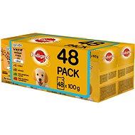 Pedigree Vital Protection mäsový výber s ryžou v želé 48× 100 g - Kapsička pre psov