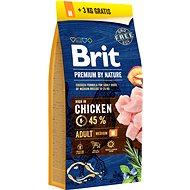 Brit Premium by Nature Adult M 15 + 3 kg - Granule pre psov