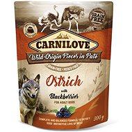 Kapsička pre psov Carnilove Dog Pouch Paté Ostrich with Blackberries 300 g