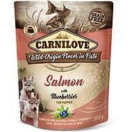 Carnilove Dog Pouch Paté Salmon with Blueberries for Puppies 300 g - Kapsička pre psov