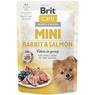 Kapsička pre psov Brit Care Mini Rabbit & Salmon Fillets in Gravy 85 g